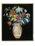Large Bouquet on a Black Background  C1910