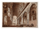 Interior of St Peter's Basilica  1833