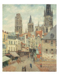 Rue De L&#39;Epicerie at Rouen  on a Grey Morning  1898