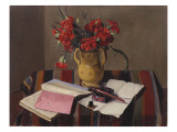 Carnations and Account Books  1925