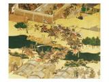The Battle of Hogen from a Screen  Momayama Period