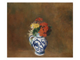 Flowers in a Blue Vase  C1900