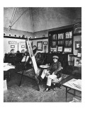 Cecil Aldin in His Studio