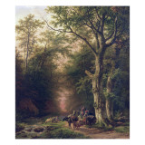 Wooded Landscape with Peasants