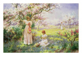 Spring: Picking Flowers  1898