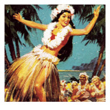 Hawaian Girl Dancing