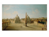 A View of the Piazza Del Popolo