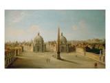 A View of the Piazza Del Popolo