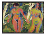 Two Nude Women in a Wood  1909