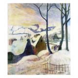 Breton Village under Snow  1894
