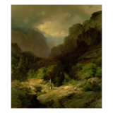 An Alpine Landscape in a Storm