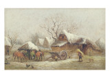 A Winter Farmyard Scene