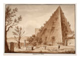 The Pyramid of CCestius  1833