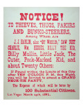 Vigilante Notice of 1882