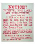 Vigilante Notice of 1882