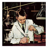 Chemist Using Litmus Paper