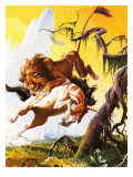 Fight Between Unicorn and Lion
