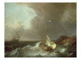 Galleon in Stormy Seas
