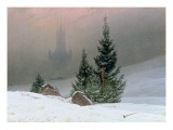 Winter Landscape affiche par Caspar David Friedrich