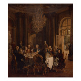 Dinner Table at Sanssouci  1850