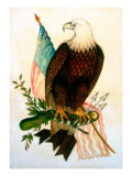 Bald Eagle with Flag