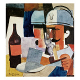 Soldier with Pipe and Bottle
