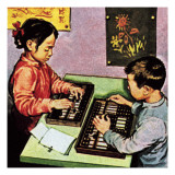 Children Using Abacus