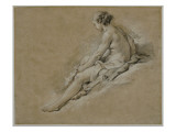 A Seated Nude Girl