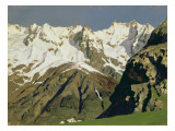 Mont Blanc Mountains  1897