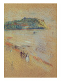 Figures on a Beach Near Cliffs