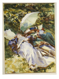 The Green Parasol  C1910