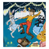 Boy and Rabbit Dancing