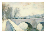 Pont Royal  Paris  Winter