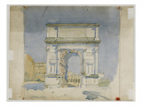 Arch of Titus  Rome  1891