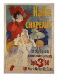 Poster Advertising &#39;Halle Aux Chapeaux&#39;  C1892