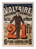 Poster Advertising &#39;A Voltaire&#39;  C1877