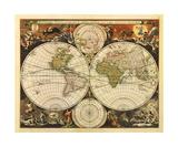 New World Map  17th Century