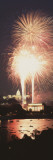 Fireworks Over a City  Washington DC  District of Columbia  USA