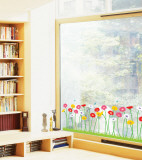 Growing Flowers (Window Decal)