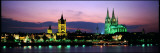 Cityscape at Dusk  Cologne  Germany