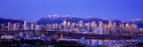 Twilight  Vancouver Skyline  British Columbia  Canada