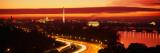 Sunset  Aerial  Washington DC  District of Columbia  USA