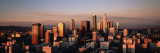 Skyline at Dusk  Los Angeles  California  USA