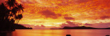 Sunset  Huahine Island  Tahiti