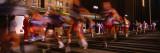 Blurred Motion of Marathon Runners  Houston  Texas  USA