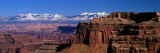 La Sal Mountains Seen from Canyonlands National Park  Utah  USA