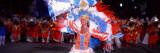 Woman in Elaborate Carnaval Costume in the Sambodromo  Rio De Janeiro  Brazil