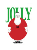 Jolly Christmas Ball-Shaped Santa