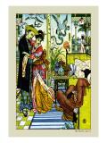 Aladdin Watches as Magician Dies  c1878