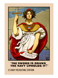 The Sword in Drawn  The Navy Upholds It!